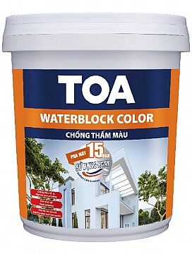 TOA WATERBLOCK COLOR – CHỐNG THẤM MÀU 1