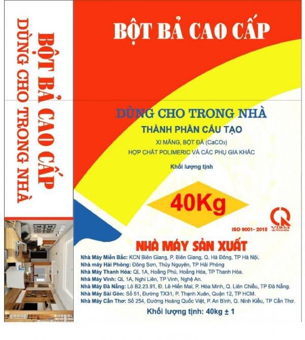 BBTN – Bột bả cao cấp dùng trong nhà Việt Mỹ 1