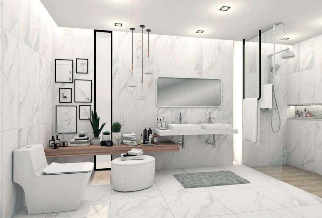Chọn ốp gạch tường cho nhà tắm, phòng vệ sinh