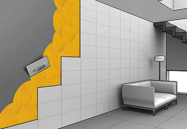 Phương pháp ốp gạch tường