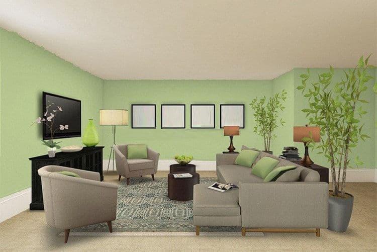 chọn sơn tường cho phòng khách