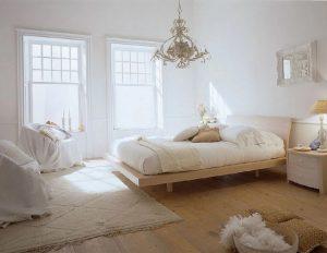 Mẫu màu sơn phòng ngủ màu trắng đẹp