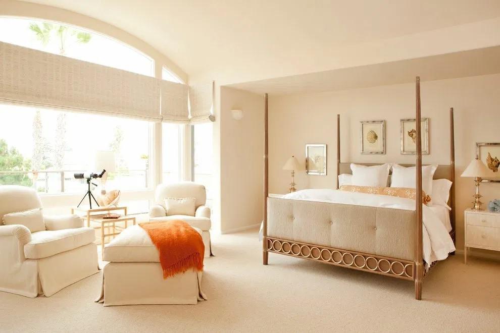 mẫu phòng ngủ màu trắng ngà đẹp