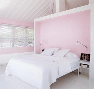 Mẫu phòng ngủ gam màu hồng phấn