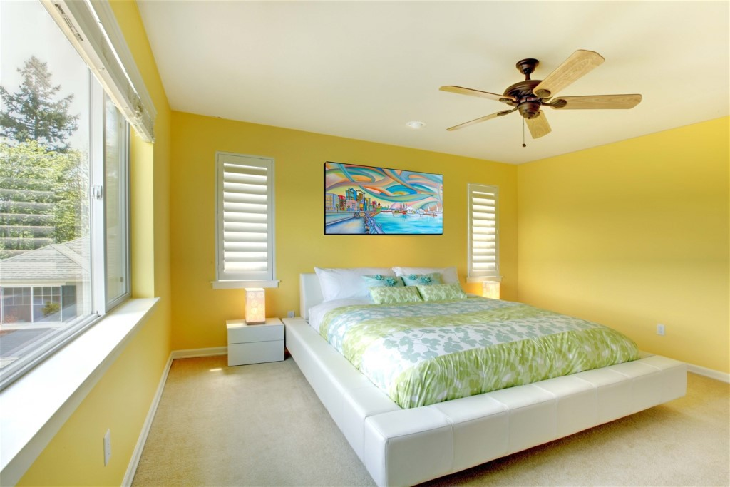 Mẫu phòng ngủ gam màu vàng
