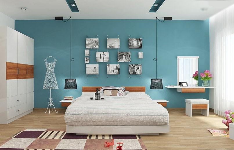 màu sơn phòng ngủ cho người mệnh thủy