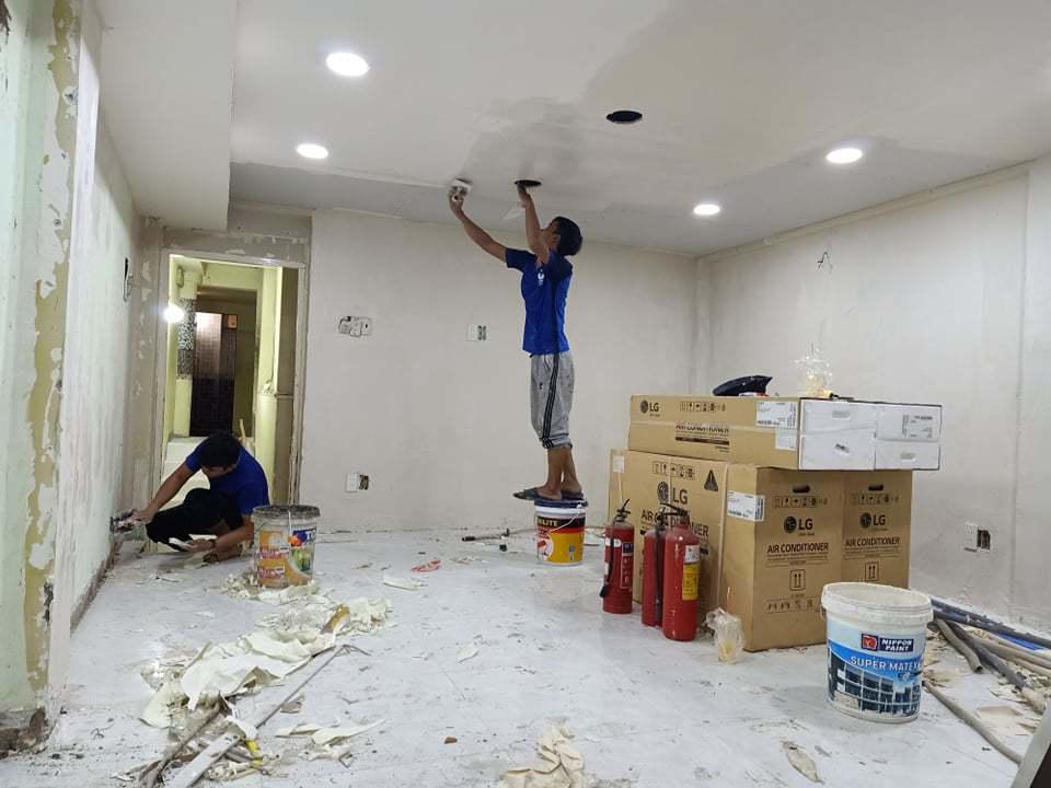 kinh nghiệm sơn lại nhà cũ
