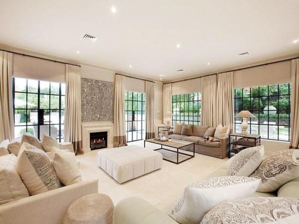 cách phối màu trắng kem đẹp cho ngôi nhà