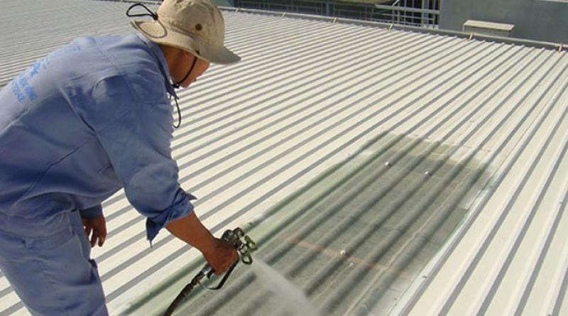 Thi công sơn chống nóng mái tôn mới
